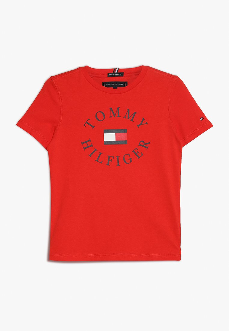 Tommy Hilfiger - ESSENTIAL GRAPHIC TEE - Print T-shirt - red