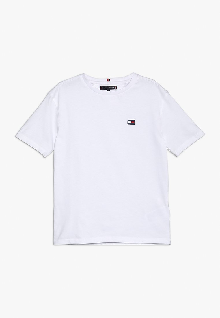 Tommy Hilfiger - ESSENTIAL BOXY FLAG - T-Shirt basic - white