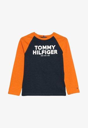COLOR BLOCK RAGLAN TEE - Pitkähihainen paita - blue