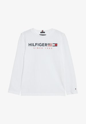 FLAGS GRAPHIC TEE  - Long sleeved top - white