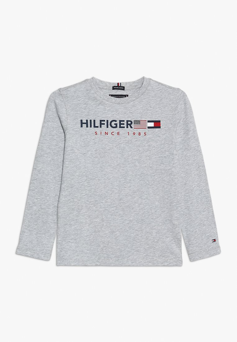 Tommy Hilfiger - FLAGS GRAPHIC TEE  - Long sleeved top - grey