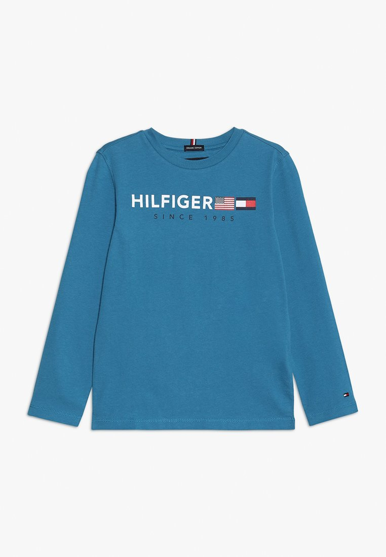 Tommy Hilfiger - FLAGS GRAPHIC TEE  - Maglietta a manica lunga - blue
