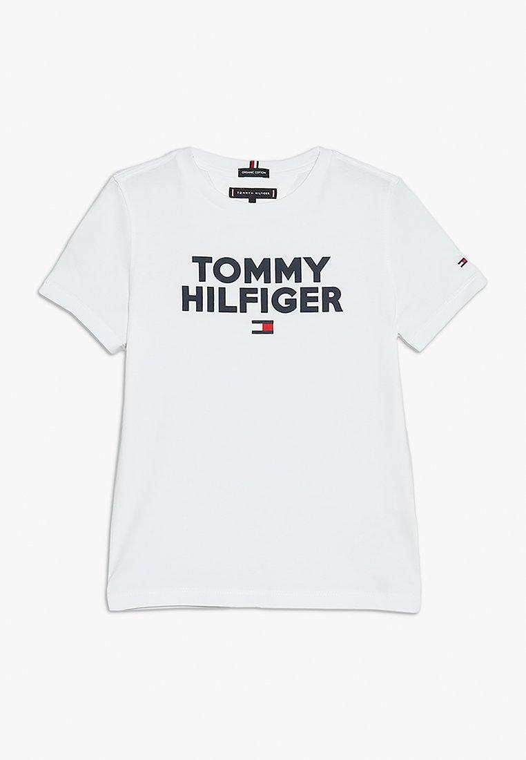 Tommy Hilfiger - LOGO TEE  - Printtipaita - white