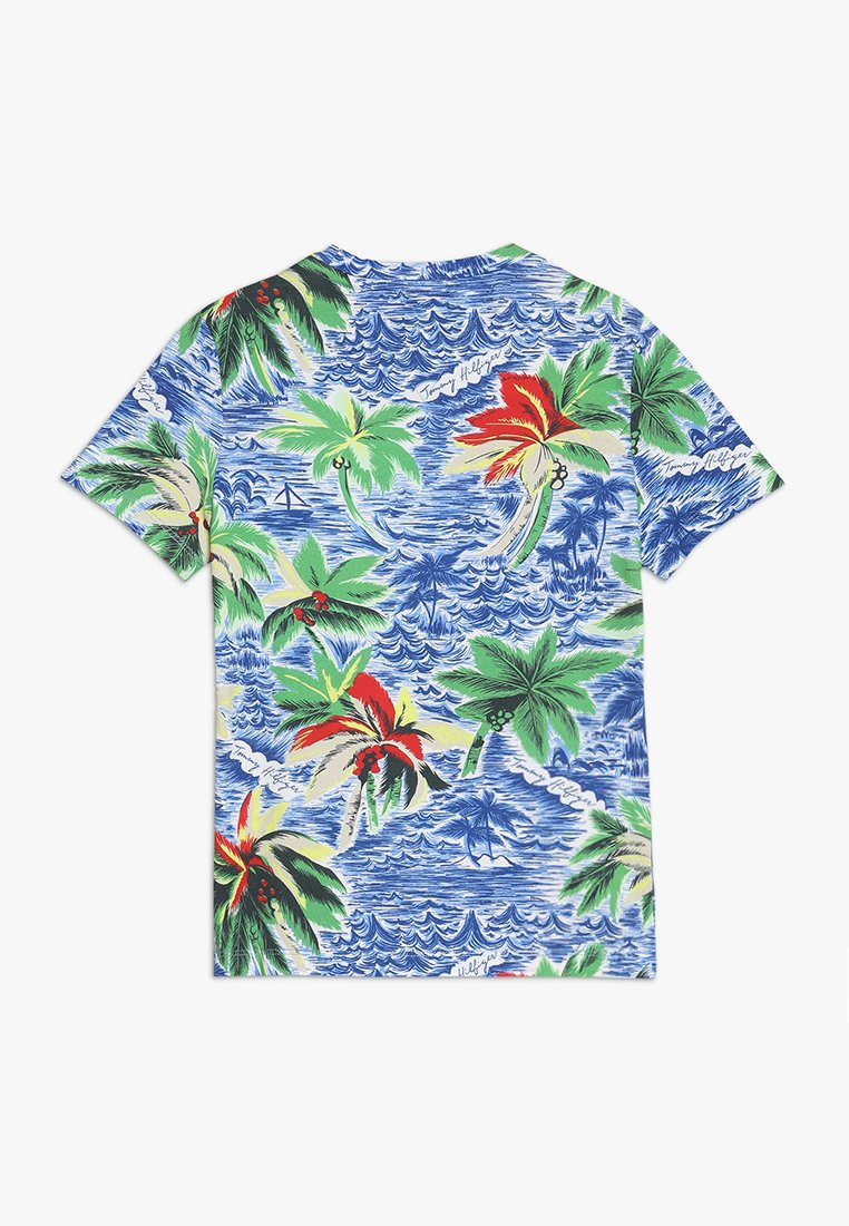 Tommy Hilfiger - HAWAIIAN TEE - T-Shirt print - blue