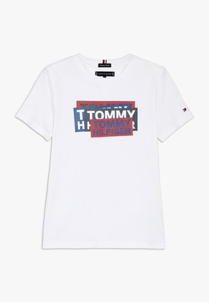 STICKER PRINT TEE - T-shirt imprimé - white