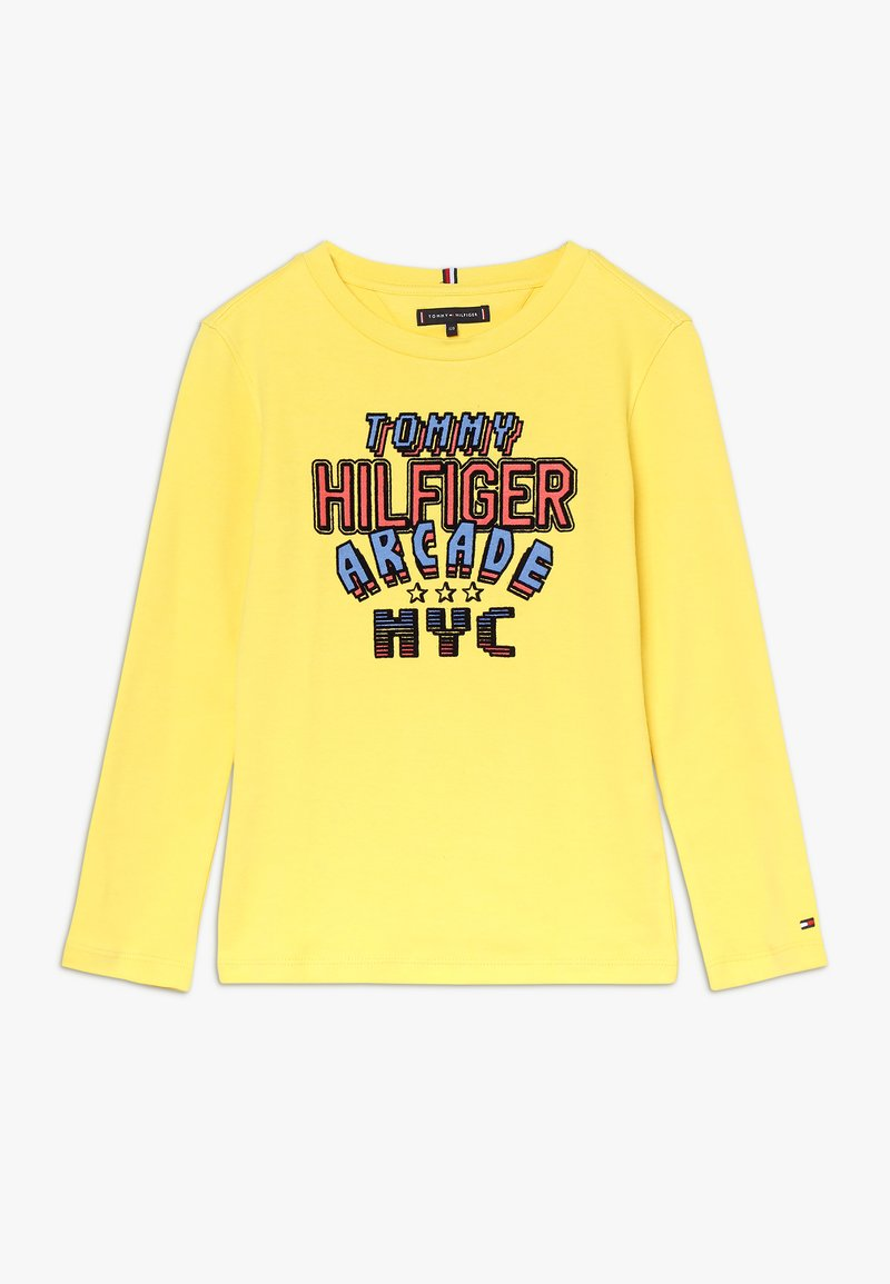 Tommy Hilfiger - MULTI APPLICATION FUN TEE - Long sleeved top - yellow