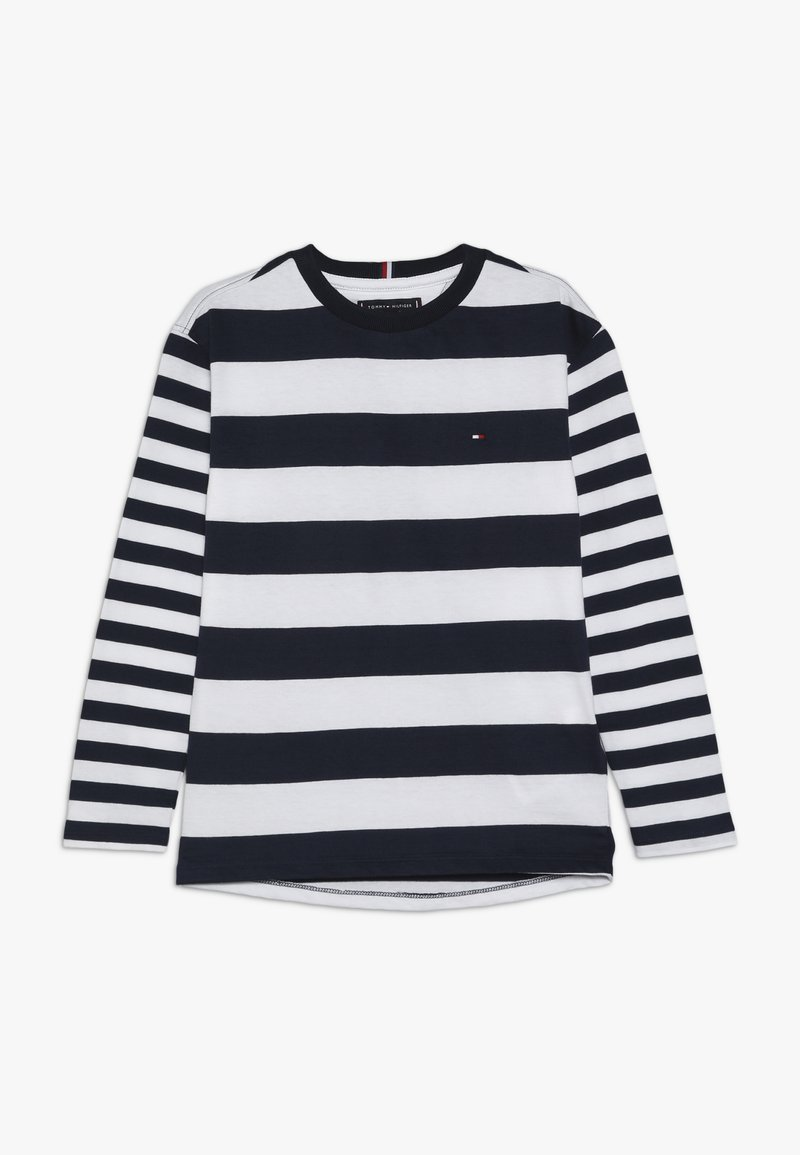 Tommy Hilfiger - MIXED STRIPE BOXY FIT TEE - Long sleeved top - blue