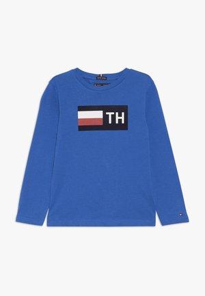 FLOCK TEE - Long sleeved top - blue