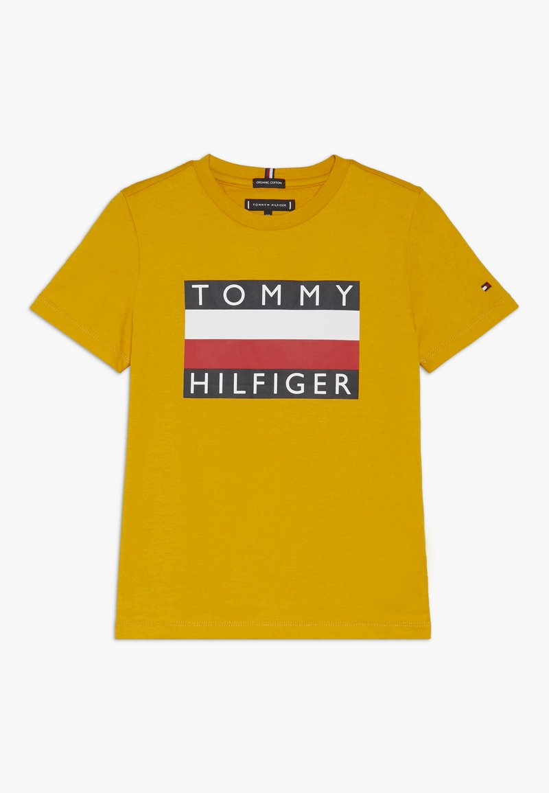 Tommy Hilfiger - ESSENTIAL TEE - Printtipaita - yellow