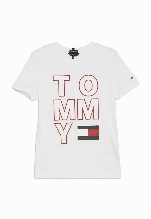 MULTI APPLICATION TEE - Camiseta estampada - white