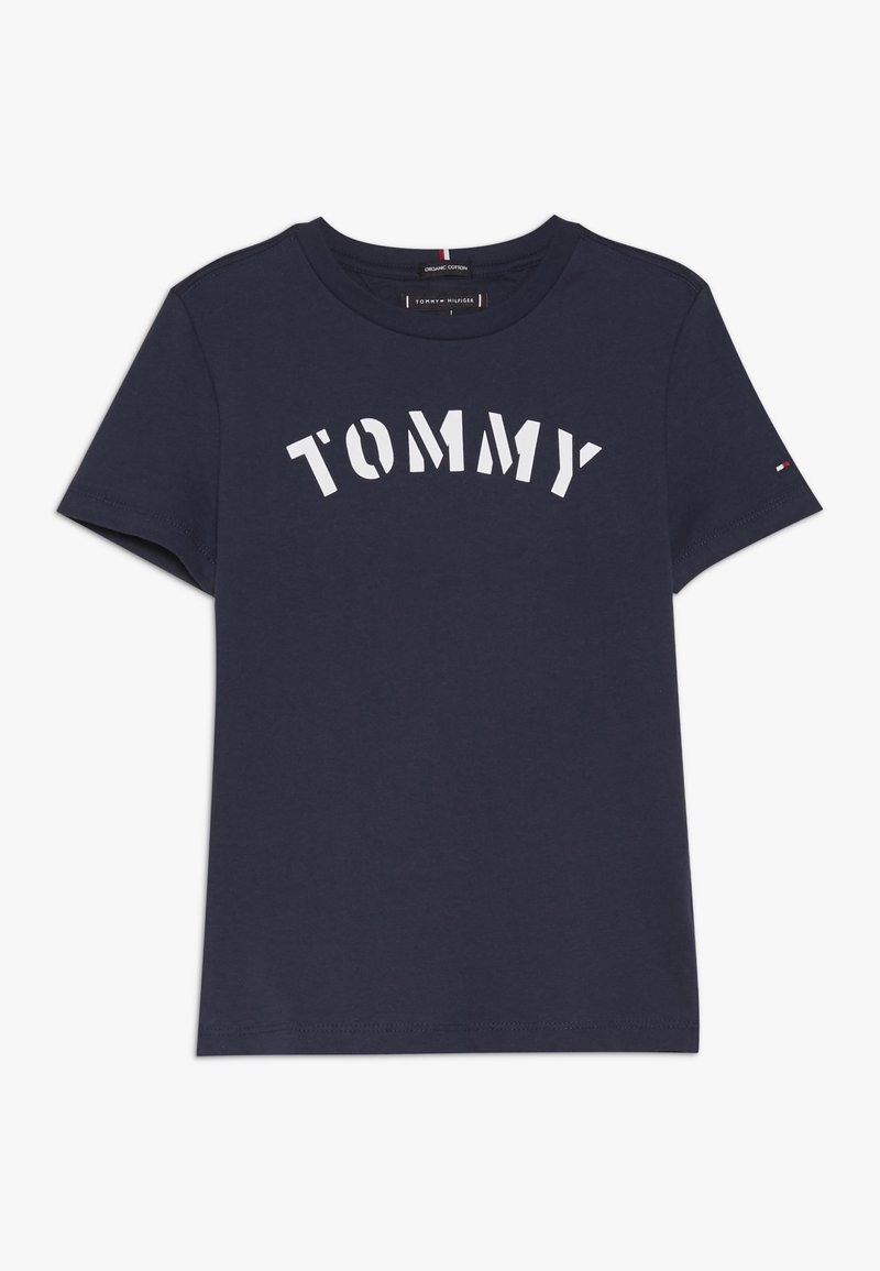 Tommy Hilfiger - ESSENTIAL GRAPHIC TEE - T-shirt z nadrukiem - blue