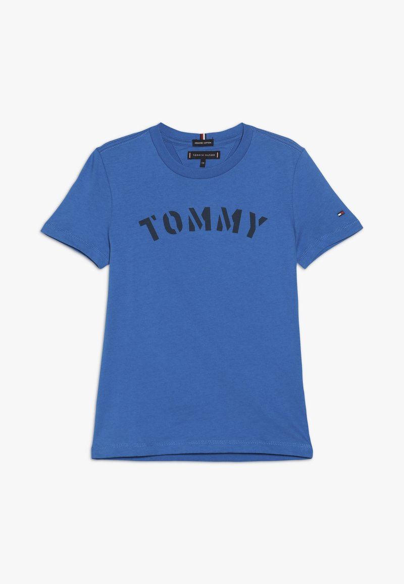 Tommy Hilfiger - ESSENTIAL GRAPHIC TEE - T-shirt print - blue