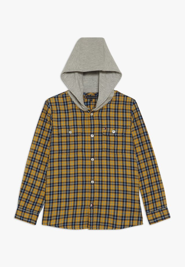 HOODED CHECK - Camisa - yellow