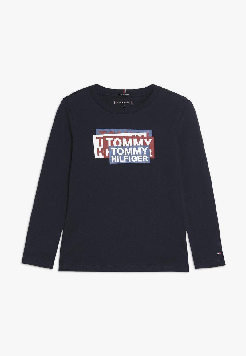 Tommy Hilfiger - STICKER PRINT - T-shirt à manches longues - blue