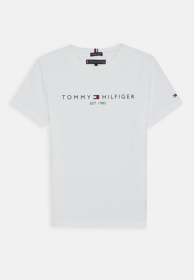 Tommy Hilfiger - ESSENTIAL TEE  - T-shirt con stampa - white