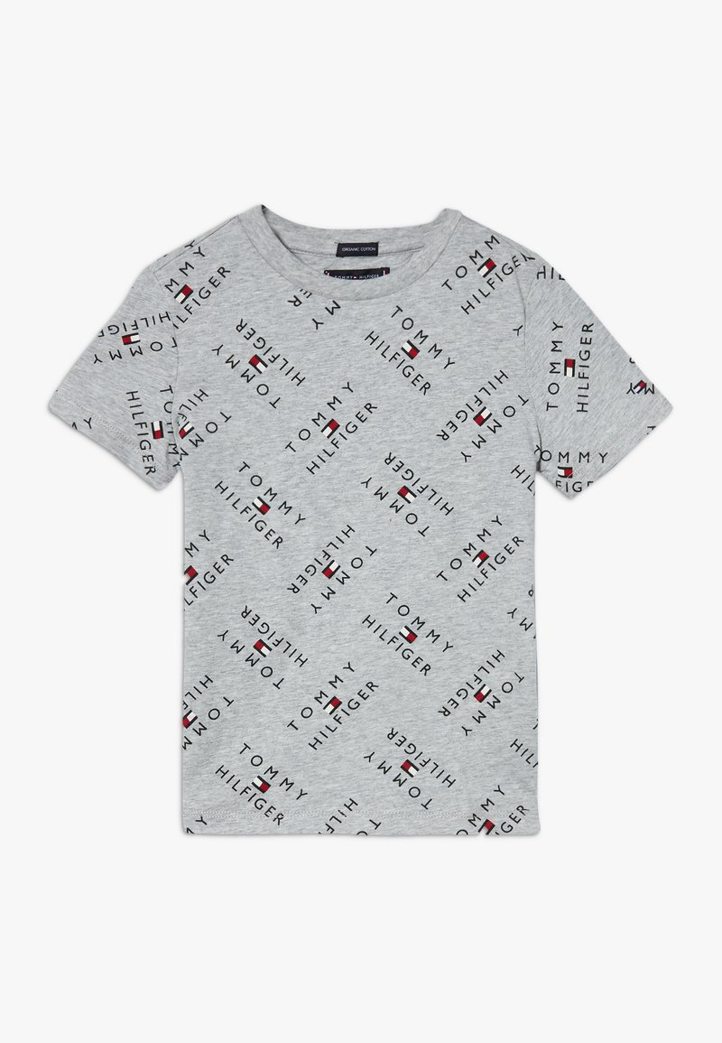 Tommy Hilfiger - LOGO TEE  - T-shirt print - grey