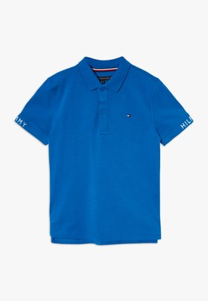SLEEVE TEXT  - Poloshirt - blue
