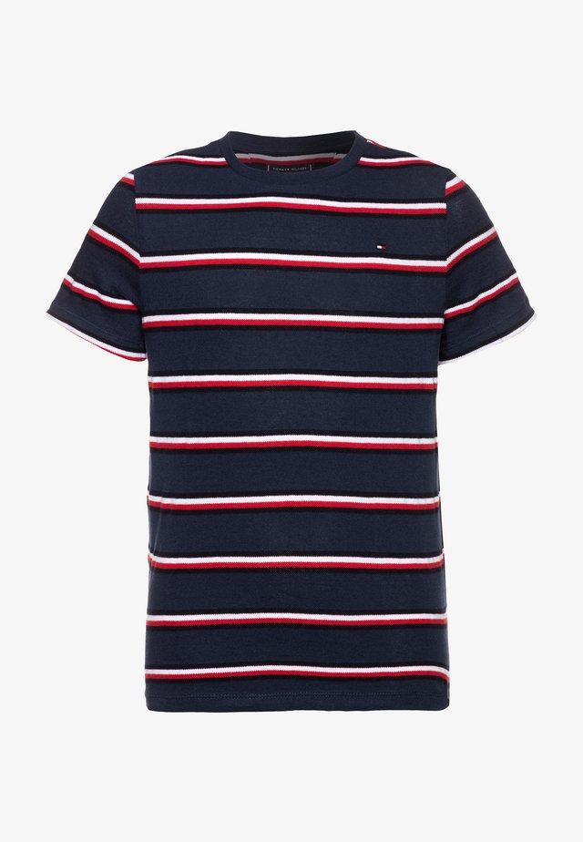 STRIPE - T-shirt print - blue