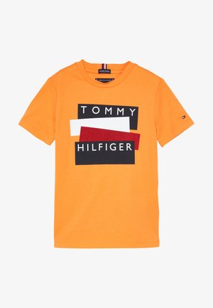 STICKER TEE  - Triko s potiskem - orange