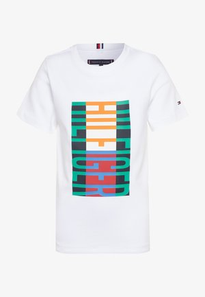 FUN FLAG TEE  - T-shirt z nadrukiem - white
