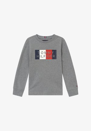 GLOBAL STRIPE GRAPHIC - Long sleeved top - grey