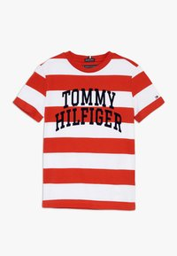 Tommy Hilfiger - RUGBY STRIPE GRAPHIC TEE - Camiseta estampada - red - 0