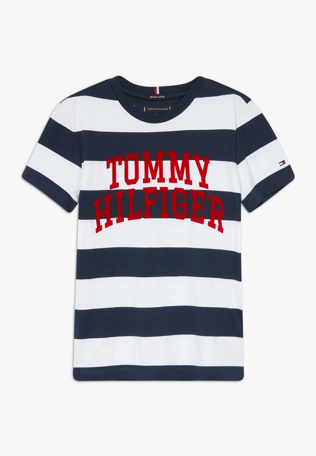 RUGBY STRIPE GRAPHIC TEE - Camiseta estampada - blue
