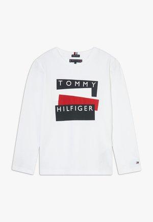STICKER - T-shirt à manches longues - white