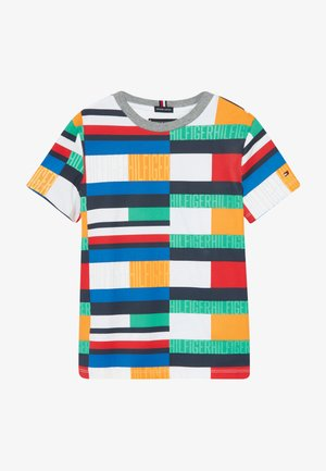 BRIGHT FLAG TEE - T-shirt print - blue