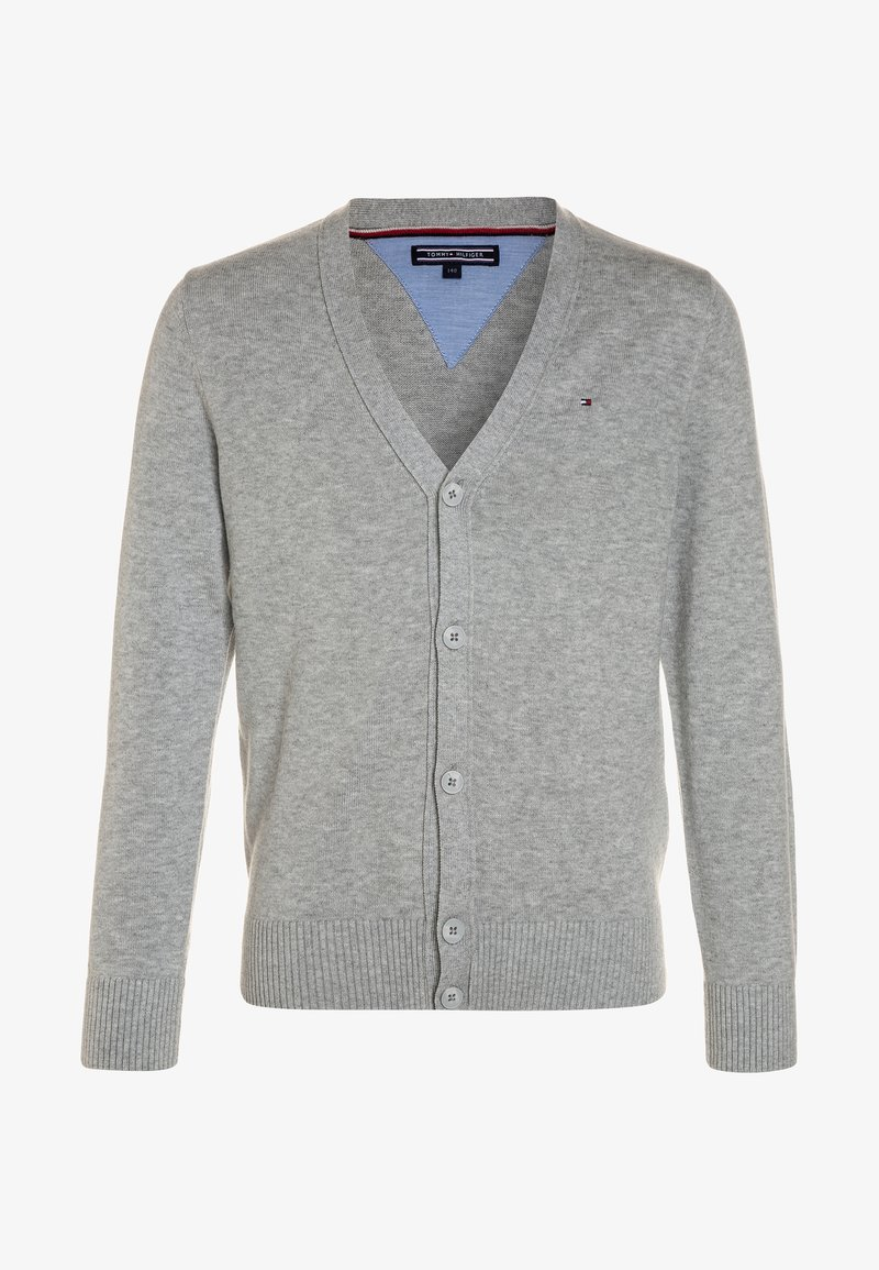 Tommy Hilfiger - BOYS BASIC CARDIGAN - Strickjacke - grey heather