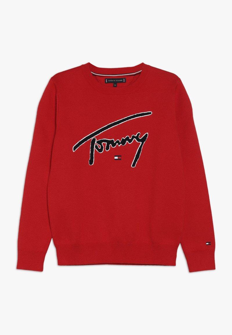 Tommy Hilfiger - Strickpullover - red
