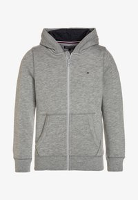 Tommy Hilfiger - BOYS BASIC ZIP HOODIE - Huvtröja med dragkedja - grey heather - 0
