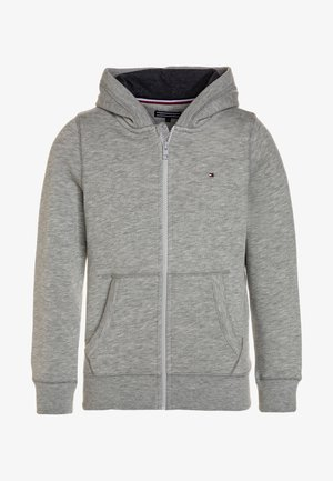 BOYS BASIC ZIP HOODIE - Huvtröja med dragkedja - grey heather