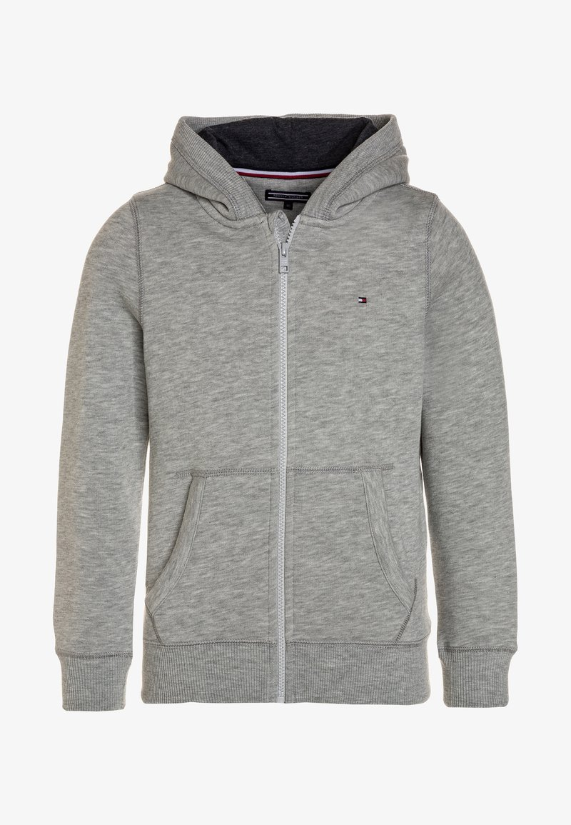Tommy Hilfiger - BOYS BASIC ZIP HOODIE - Huvtröja med dragkedja - grey heather