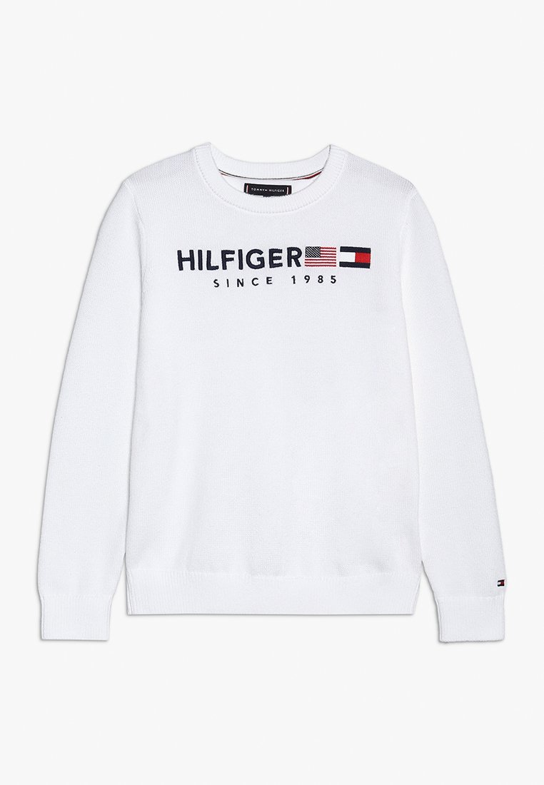 Tommy Hilfiger - FLAG  - Neule - white