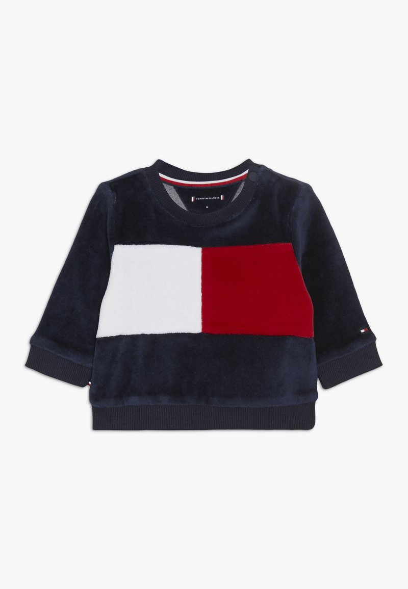 Tommy Hilfiger - BABY COLORBLOCK  - Sweatshirt - black iris