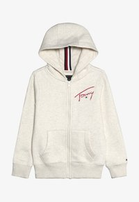 Tommy Hilfiger - ESSENTIAL SIGNATURE HOODED ZIP - Mikina na zip - off-white - 3