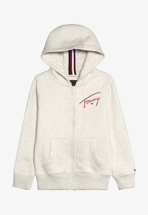 ESSENTIAL SIGNATURE HOODED ZIP - Mikina na zip - off-white