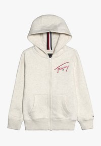 Tommy Hilfiger - ESSENTIAL SIGNATURE HOODED ZIP - Mikina na zip - off-white - 0