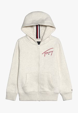 ESSENTIAL SIGNATURE HOODED ZIP - veste en sweat zippée - off-white