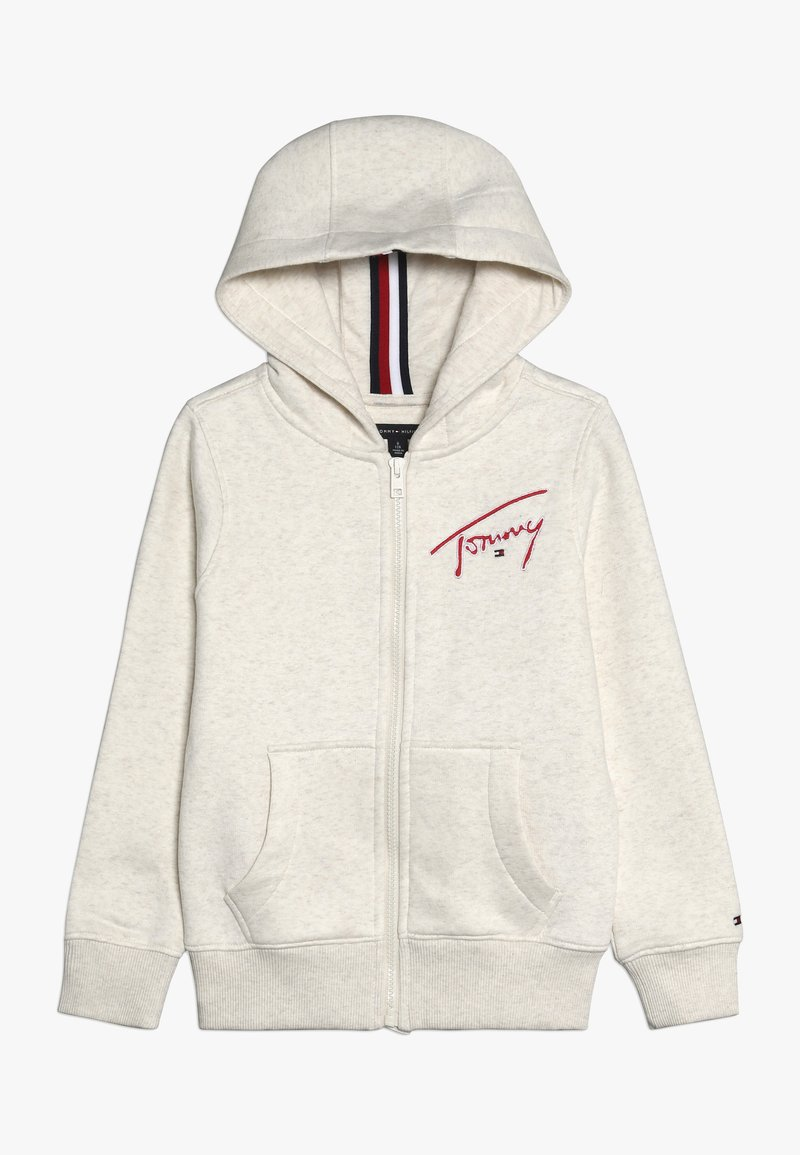 Tommy Hilfiger - ESSENTIAL SIGNATURE HOODED ZIP - Mikina na zip - off-white