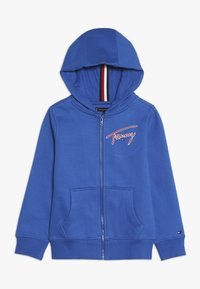 Tommy Hilfiger - ESSENTIAL SIGNATURE HOODED ZIP - Zip-up hoodie - blue - 0