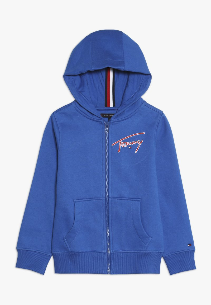 Tommy Hilfiger - ESSENTIAL SIGNATURE HOODED ZIP - Zip-up hoodie - blue
