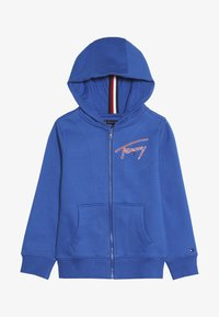 Tommy Hilfiger - ESSENTIAL SIGNATURE HOODED ZIP - Zip-up hoodie - blue - 3