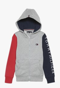 Tommy Hilfiger - COLORBLOCK HOODED ZIPTHROUGH - Mikina na zip - grey - 0