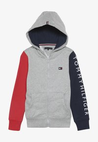 Tommy Hilfiger - COLORBLOCK HOODED ZIPTHROUGH - Mikina na zip - grey - 3