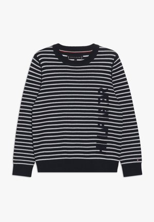 STRIPE - Jumper - blue