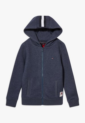 BACK INSERT HOODED FULL ZIP - Sudadera con cremallera - blue
