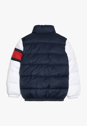 PADDED COLOUR BLOCK PUFFER - Zimní bunda - white