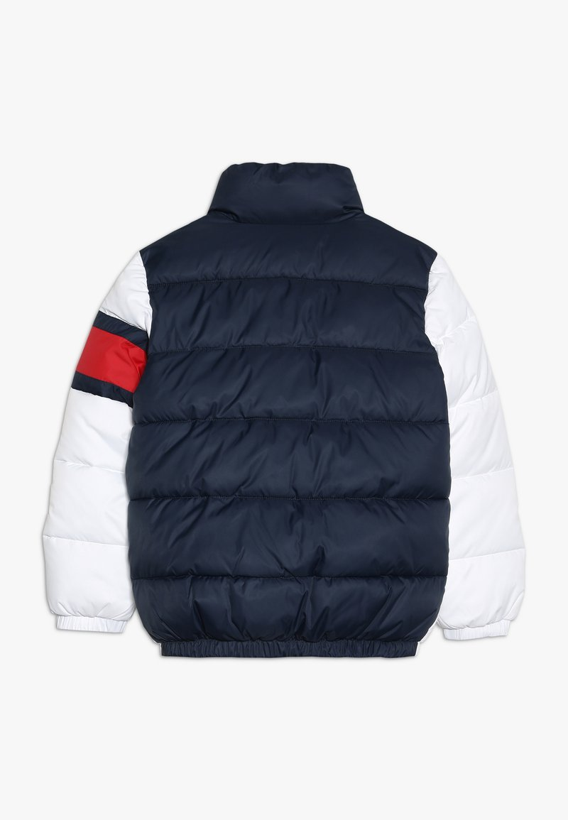 Tommy Hilfiger - PADDED COLOUR BLOCK PUFFER - Zimní bunda - white